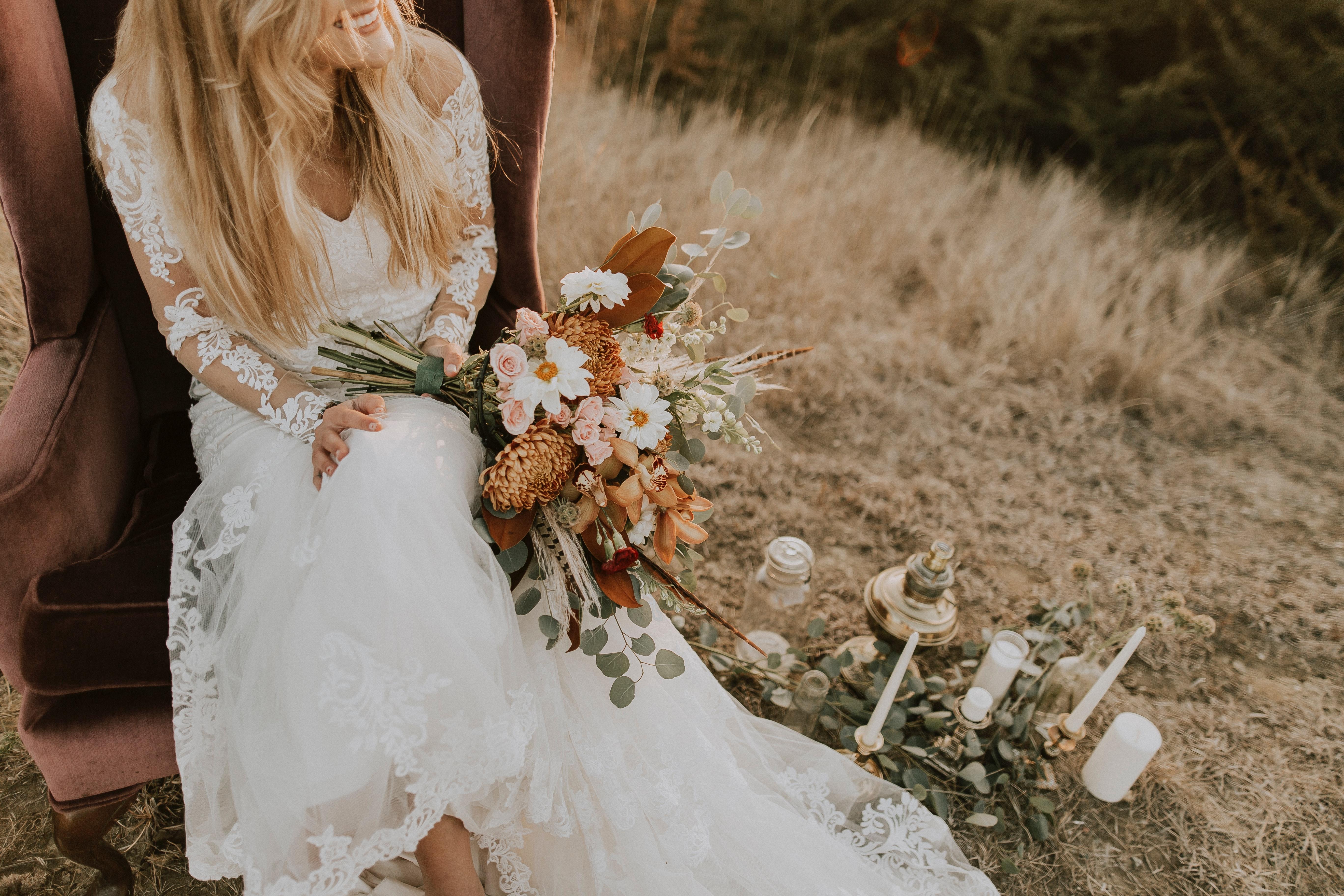 robe de mariée unsplash