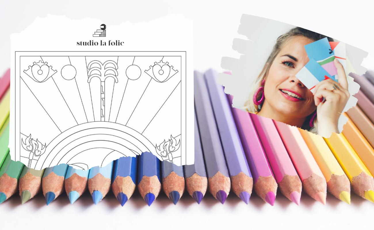 Le Studio La Folie propose des dessins à colorier - DR