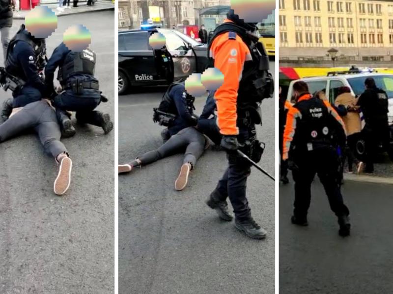 Arrestation place Saint-Lambert - Montage Boulettes Magazine