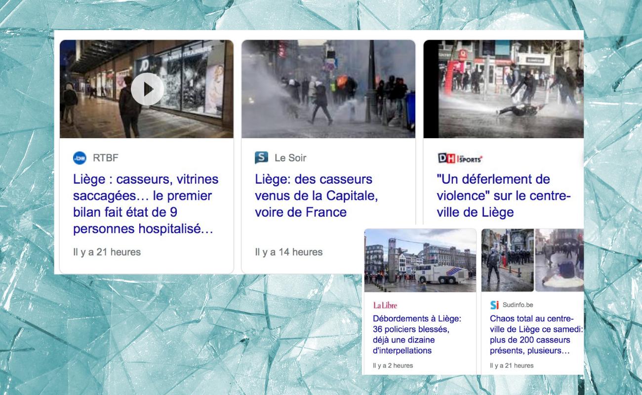 émeutes et casseurs à Liège DR Boulettes Magazine