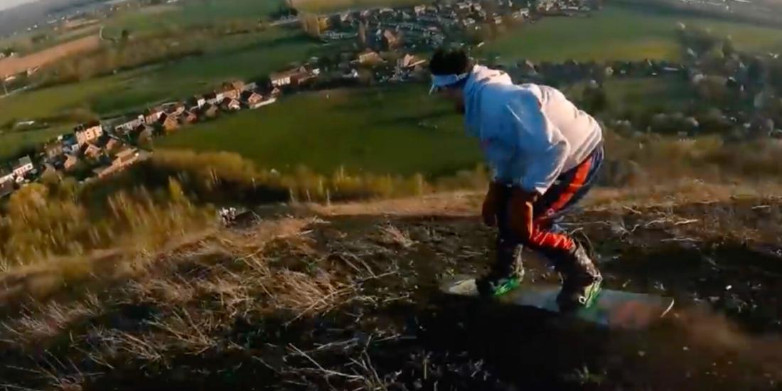 Snowboard terrils Wallonie Charleroi Average Rob